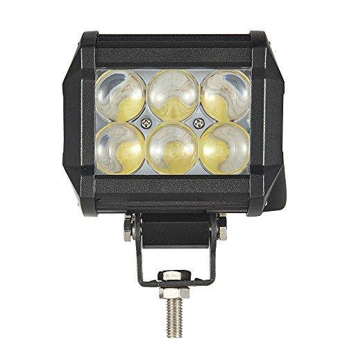 Preisvergleich Produktbild HimanJie 18W LED Lampe Flutlicht Arbeitsscheinwerfer für KFZ Offroad Zusatzscheinwerfer rund Ausleuchtung kaltweiß Wasserfest Ip67