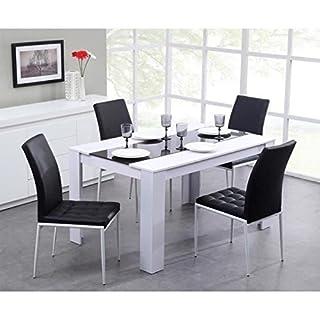 Générique Damia Table de séjour 140 x 90cm Noir/Blanc