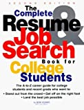 The Complete Resume & Job Search For College Students by Robert Lang Adams (1997-01-02)