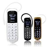 LONG CZ J8VOICE CHANGER 3 in 1 The Worlds Smallest Thinnest Mobile Phone Bluetooth Dialer Bluetooth Headphone Micro SIM Card LONG-CZ J8 18 Gram (Black)