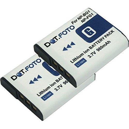 2x Dot.Foto Qualitätsakku für Sony NP-BG1,NP-FG1 mit InfoChip - 3,7v / 960mAh - Garantie 2 Jahre  [Siehe Beschreibung für die Kompatibilität] Np-fg1 Lithium-batterie