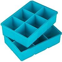 Webake Lot de 2 Bac à Glaçons en Silicone XXL Moules à Glaçons 5 x 5 cm 6 Gros Cubes Moules à Glace Réutilisable de…