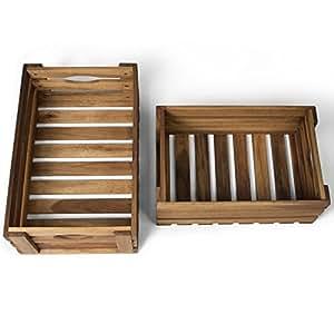 vanage caisses cageots en bois pour fruits l gumes bois etc caisse de rangement en bois
