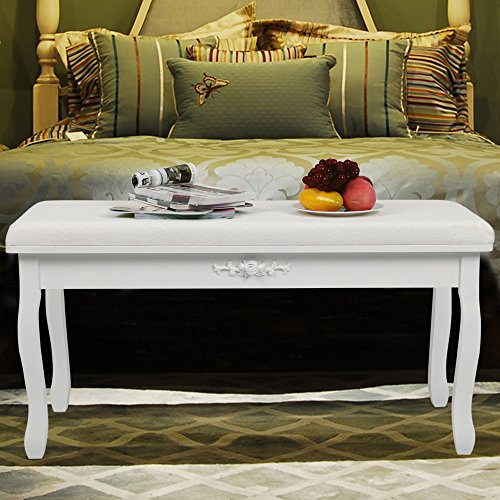 Songmics white Bench Chaise Long...