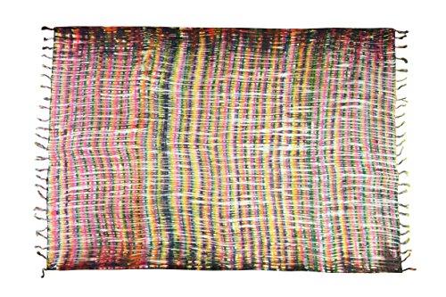 Sarong Pareo Wickelrock Strandtuch Tuch Schal Wickelkleid Strandkleid Blickdicht Jamaika - Rasta Fari (Wickelrock Sarong)