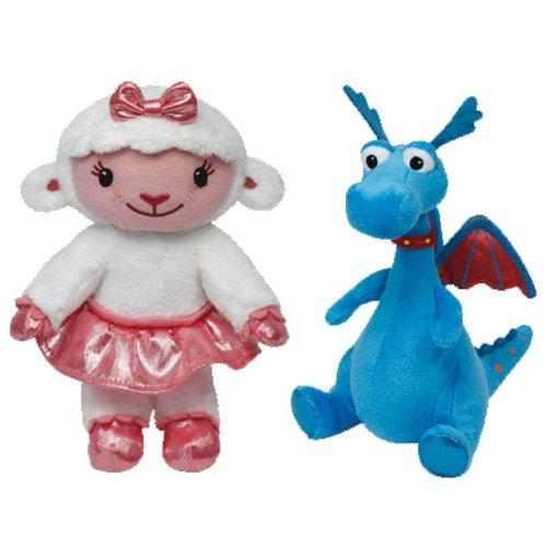 Ty Beanie Babies Doc McStuffins Dragon verstopfte und Mädchen Lambie Gruppe Mit 2 Plüsch-Spielwaren - Dragon Stuffy and Girl Lambie Set of 2 Plush Toys