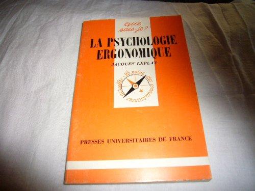 La Psychologie ergonomique