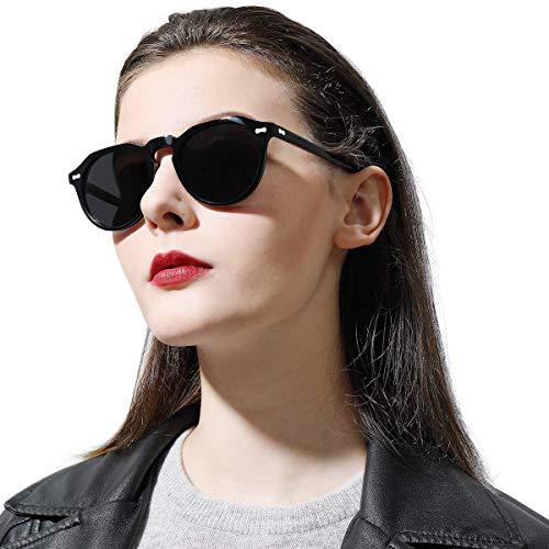 Carfia Damen Sonnenbrille Polarisiert UV400 Outdoor Runde Brille für Autofahren Angeln Freizeit