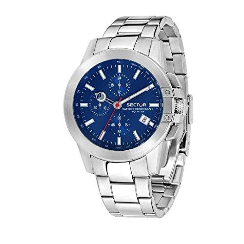 SECTOR Orologio Cronografo Quarzo Uomo con Cinturino in Acciaio Inox R3273797004