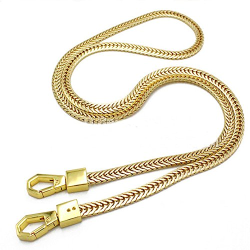 Iron Flat Bag Geldbörse Chain Strap Zubehör Schultertasche Cross Body Handtasche Strap Ersatz hellgoldfarben
