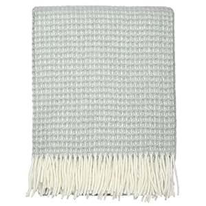 Couverture Gaufrée Gris | 100% laine vierge
