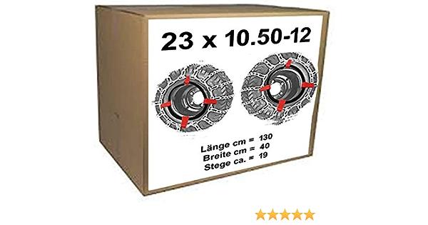 Profi Ausführung Gliederstärke 4,5mm 23 x 10.50-12 Schneeketten 23x10.50-12