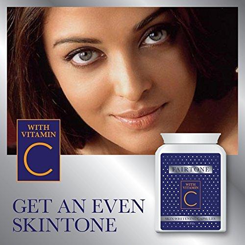 FAIRTONE SKIN WHITENING CAPSULES sbiancamento della pelle CAPSULE CON VITAMINA C ACCENDINO & LUMINOSO SKIN