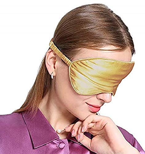 biteri Schlafmaske Schlafbrille Augenmaske Natürlich 100{5fbf982a84ec71b5a7f6d24050ac5210c5d7f13f8576b56329c5eae1a7f490d7} Seide Augenbinde mit Verstellbares Elastikband Hautfreundlich mit Ohrstöpseln und Tragbare Tasche für Büro Schlaf Zuhause