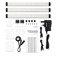 Zanflare LED Under Cabinet Lighting, Hand Wave Activated, Touchless Dimming Control, Easy to Install, 3 Panel Kit, All Accessories Included, 12V LED Closet Light Fixtures, Under Counter Lights