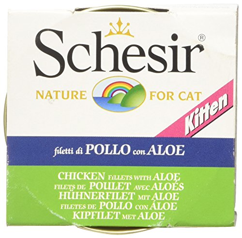 Schesir Kitten - Filetti di Pollo e Aloe in Gelatina, 85 gr, 1 Lattina