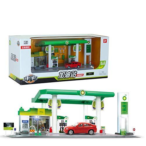 Yiwa Let's Play House! Skala Sound + Light Service Tankstelle Shop Straße Auto Spielhaus Spielzeug Set British BP Oil Station Combination - BMW X6 (Tankstelle Bp)