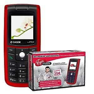 Virgin Mobile Pack prêt à téléphoner Sagem my210x Rouge