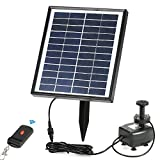 Anself Solar Water Pump, Built-in Storage Battery ,Remote Control Submersible, LED Pump Fountain