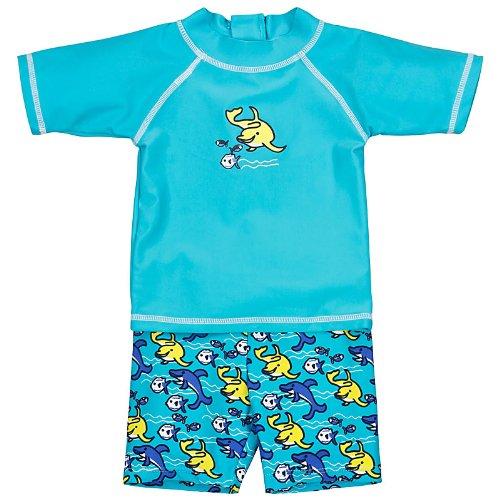 Landora®: Baby- / Kleinkinder-Badebekleidung 2er Set mit UV-Schutz 50+ und Oeko-Tex 100 Zertifizierung in türkis; Größe 74/80