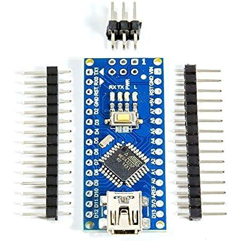 Nano V3.0ATmega328P–AU MCU microcontrolador con 16m 5V ch340g tarjeta para Arduino