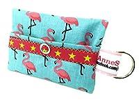 kackb eutel Flamingo Turquoise Rose Distributeur de Sacs à déjections canines Sachet Friandises pour chien Sacoche en toile cirée Promenades Waste cadeau propriétaire de chien dunette Bag chien