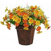 bibabo251ramo 28Jefes artificial diseño de margaritas flores Home boda Garden Decor, tela, puesta de sol, talla única