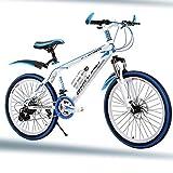 Bike Kinderfahrräder 21 Geschwindigkeit Fahrräder 20 Zoll Mountainbikes Für Jungen Und Mädchen Scheibenbremse,Blue