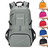 ZOMAKE Lightweight Foldable Backpack 35L, Water Resistant Rucksack, Unisex Nylon Daypack for Travel