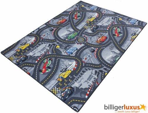 BilligerLuxus Los niños de la Alfombra con diseño de Cars de Disney 3Colores 3tamaños Diferentes, Gris, 95 x 133 cm
