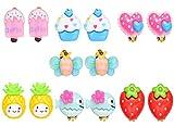 7 Paar Hypoallergen Princess Clip Ohrringe Set Stecker für Kinder kleine Mädchen (7 Paar Clip Ohrringe Set)