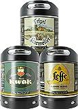 Pack 3 fûts de 6 litres - Compatibles avec la tireuse Perfectdraft - 15 euros de consigne INCLUS (Assortiment 3 fûts 6L Leffe Blonde - Kwak - Tripel Karmeliet)