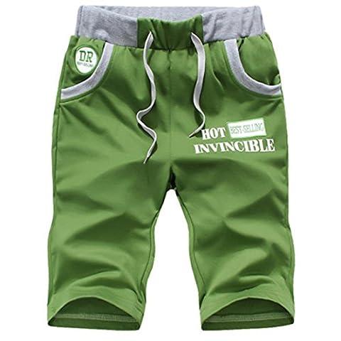 Mens Sweatpants Homme Luxury Shorts Green / 4XL