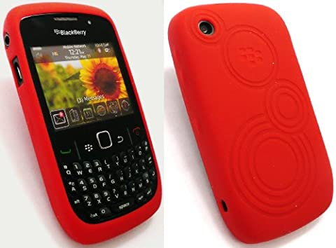Genuine Blackberry 8520 / 9300 Curve 3G Embossed Red Butterfly