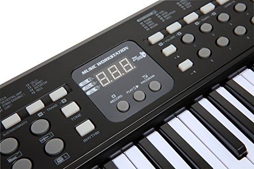 AXMAN T315853 Keyboard inkl. Mikrofon und Netzteilanschluß, 54 Tasten, batteriebetrieben 6 x AA (nicht im Lieferumfang enthalten) - 4