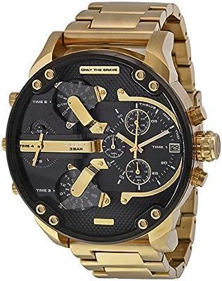 Reloj Diesel Hombre analógico cuarzo acero inoxidable oro dz7333