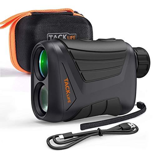 Tacklife MLR01 Télémètre Golf 800m/ Monoculaire /Grossissement 7X/Précision de Distance 1m, de Vitesse 5km/h, d'angle 1 °/pour Verrouillage du Mât, Chasse, Sports en Plein air/Câble de Charge USB