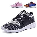 Mädchen Schuhe,Mode Low Top Unisex Jungen Mädchen Kinder Outdoor Sportschuhe Turnschuhe Laufschuhe (EU 37=Fußlänge 24cm, Schwarz)
