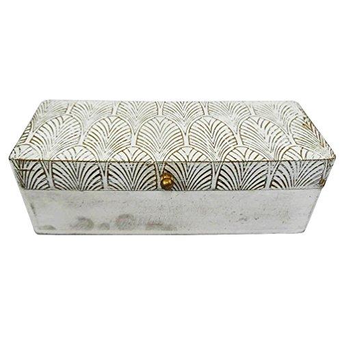 decorativi scatola di legno in stile antico materiale da tavola bianco cappello a cilindro accessori donna bigiotteria da sposa Articolo regalo scatola fatta a mano