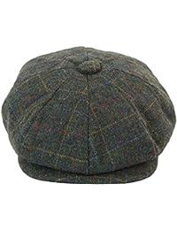 c563ed8ede11 Casquette béret homme tweed carreaux style Peaky Blinders chapeau grand père