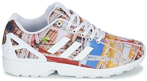 adidas Homme ZX Flux Low-Top - Blanc/Multicolore, 40 EU