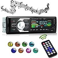 Autoradio Bluetooth Main Libre KYG Radio de Voiture Amovible Adapteur ISO, Support Lecteur MP3/WMA/FLAC/WAV et USB/SD/MMC/AUX Radio Stéréo FM Numérique Haute-Fidélité + Télécommande