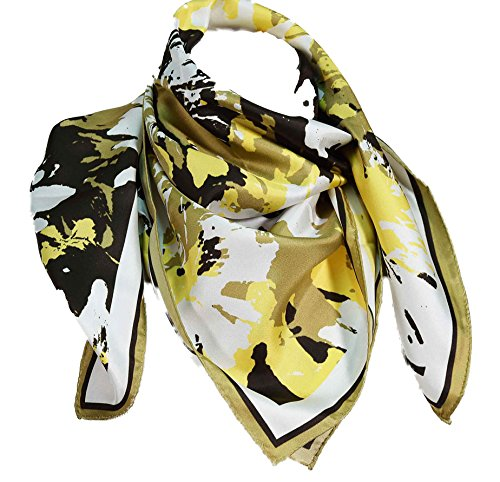 guy-laroche-carre-en-soie-fleurs-bronze
