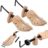 Babz 2x Womens Shoe Stretchers / 3-Way Expanders For Stretching Ladies Shoes - Expands Length, Width & Height of Tight Footwear