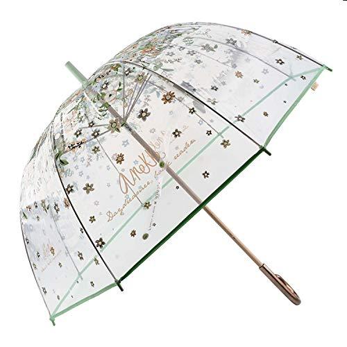 Anekke Paraguas Largo Mujer Transparente 28870P4 Anti
