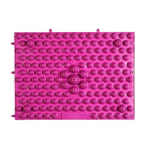 Timlatte TPE Toe Druckplatte Fussdruckplatte Massage-Auflage-Matte FußMassager Decke Yoga-Matte Lila 39 * 29cm