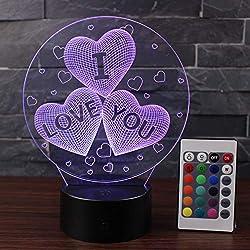 3d nacht lampe ich liebe dich tischlampe diy männer und frauen geburtstag kreative geschenk lampe