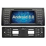 Ohok 7 Zoll Bildschirm 1 Din Autoradio Android 8.0.0 Oreo Octa Core 4G+32G Radio mit Navi Moniceiver DVD GPS Navigation Unterstützt Bluetooth DAB+ für BMW 5 E39 Series / X5 E53 Series mit Rückfahrkamera