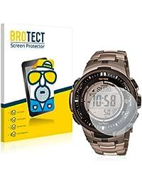 2x BROTECT Matte Protector Pantalla para Casio PROTREK PRW-3000T-7JF Mens Watch Protector Mate, Película Antireflejos