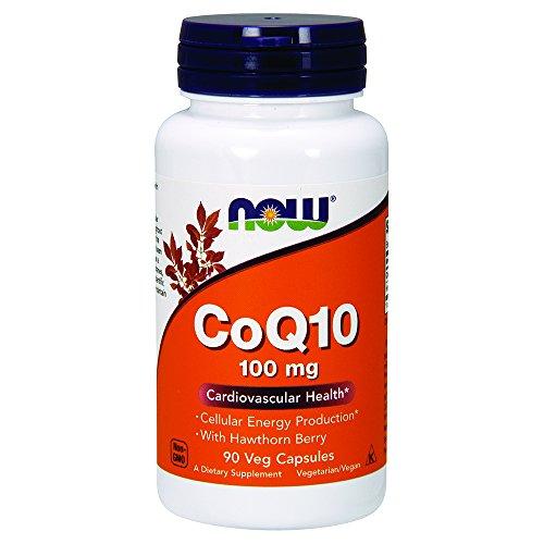 Now Foods CoQ10 (Co-Enzym Q10) Mit Weißdornbeere Vegetarisch Vegan,100mg, 90 Kapseln
